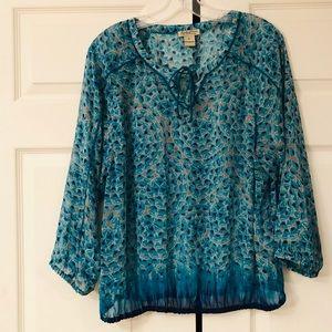 Lucky Brand sheer print blouse!